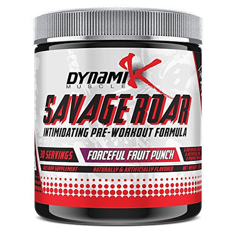 Savage Roar | Dynamik Muscle | Pre-Workout | Formulated By Kai Greene (Forceful Fruit Punch) 315 grams