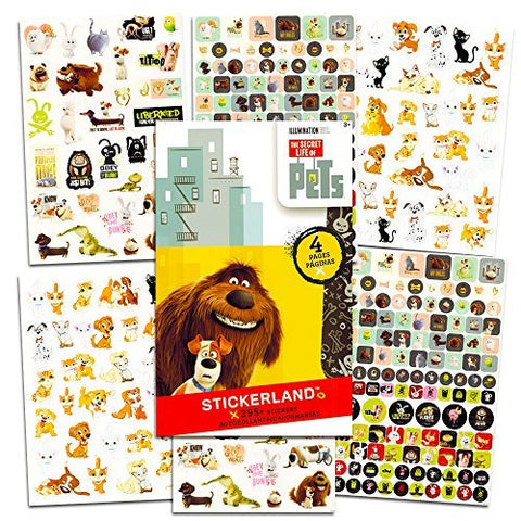 Secret Life of Pets Stickers and Tattoos Ultimate Party Favor Pack -- Over 250 Stickers, 75 Temporary Tattoos and Bonus Stickers