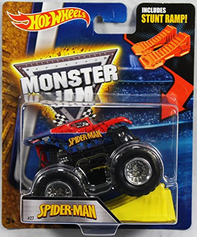Hot Wheels Monster Jam 1:64 Scale - Spider-Man with Stunt Ramp #27