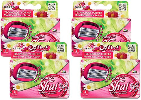 Dorco Shai SoftTouch 6- Six Blade Razor Shaving System- Value Pack (16 Cartridges)