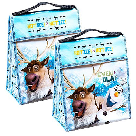 Disney Frozen Lunch Bag Set -- 2 Reusable Lunch Bags (Back to School Supplies, Party Supplies)