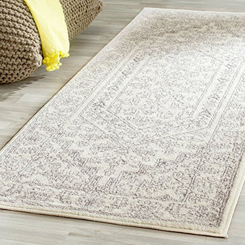 Safavieh Adirondack Collection ADR108B Ivory and Silver Oriental Vintage Runner (2'6  x 10')