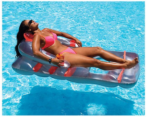 Swimline 66 Inch Deluxe Lounge Chair 1 - Colors May Vary