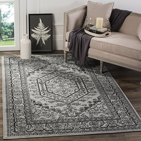 Safavieh Adirondack Collection ADR108A Silver and Black Oriental Vintage Area Rug (5'1  x 7'6 )