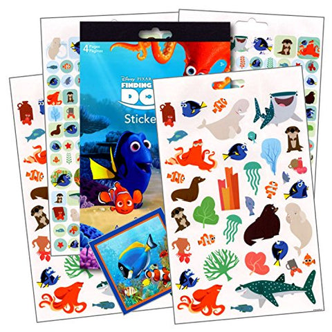 Finding Dory Stickers - Over 295 Reward Stickers Featuring Nemo, Squirt, Crush and More, Plus 1 Separately Licensed Specialty 3X3 inch Under The Sea Sticker