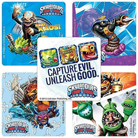 Skylanders Trap Team Stickers - Birthday and Theme Party Favors - 100 Per Pack