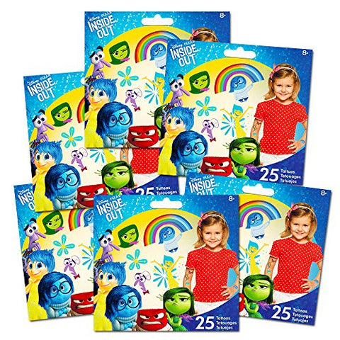 Inside Out Tattoos Party Favors Set -- 150 Temporary Tattoos (6 Party Favor Packs)