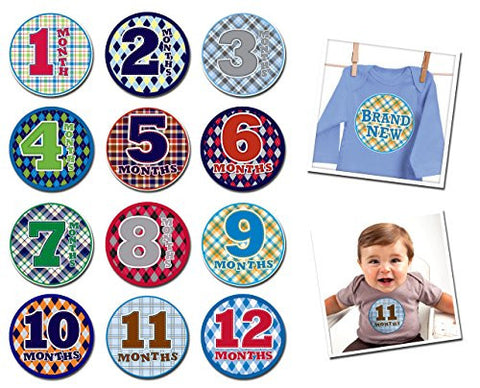Sticky Bellies Baby Month Stickers - OhSew Handsome