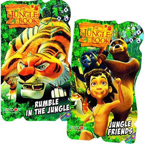 Jungle Book Baby Toddler Beginnings Board Books Set (Set of 2 Toddler Books)
