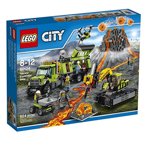 LEGO City Volcano Exploration Base 60124 Construction Toy, Building Toy