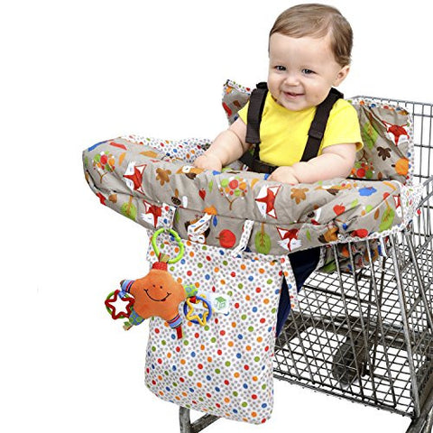 J is for Jeep Grocery Shopping Cart Seat Cover for Baby Woodland