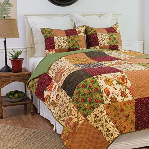 C&F Home 82106.3FQSET Rustic Lodge Full/Queen 3Piece Cotton Quilt Set,Multicolor,Full/Queen