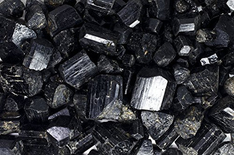 Fantasia Materials: 1/4 lb High Grade Black Tourmaline Rods from Pakistan - Assorted Sizes - Raw Rough Rocks and Stones, Crystals for Cabbing, Tumbling, Polishing, Wire Wrapping, Wicca & Reiki Healing