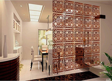 Lchen Hanging Room Divider, Simple Redwood Environmentally Safety Home Panel Screen (4, H-Large)