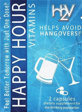 Happy Hour Vitamins Multivitamin Formulated Supplement Capsules  for Hangover & Liver Support -