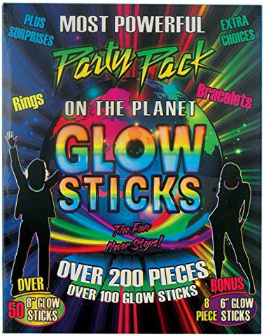 200 Pieces Glow Sticks Party Pack with Connectors