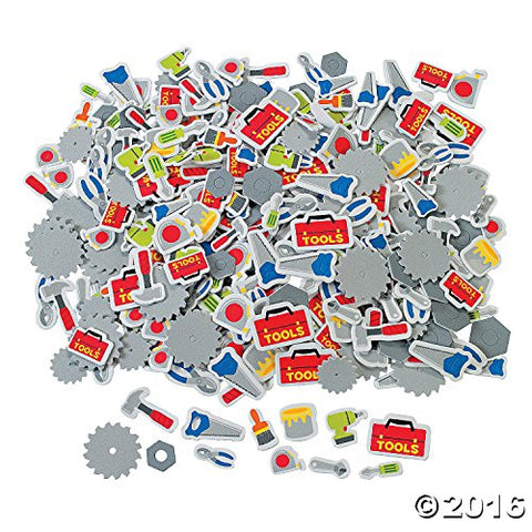 500 Tool Self-Adhesive Shapes Foam Stickers
