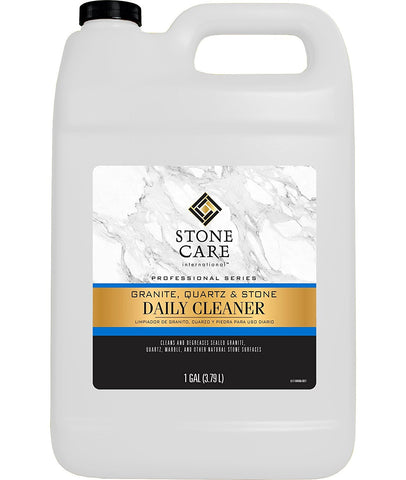Stone Care International - Granite Quartz Stone Daily Cleaner - 1 Gallon - Clean and De-Grease Natural Stones with Streak Free Finish - 1 Gallon