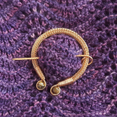 Viking Wire Knitted Penannular Brooch