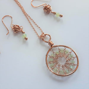 Garden Party Pendant and Earrings