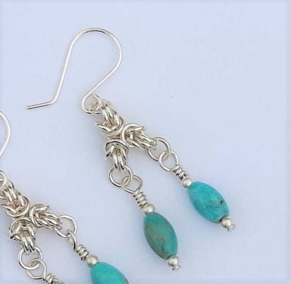 Robin's Egg Earrings (Byzantine)