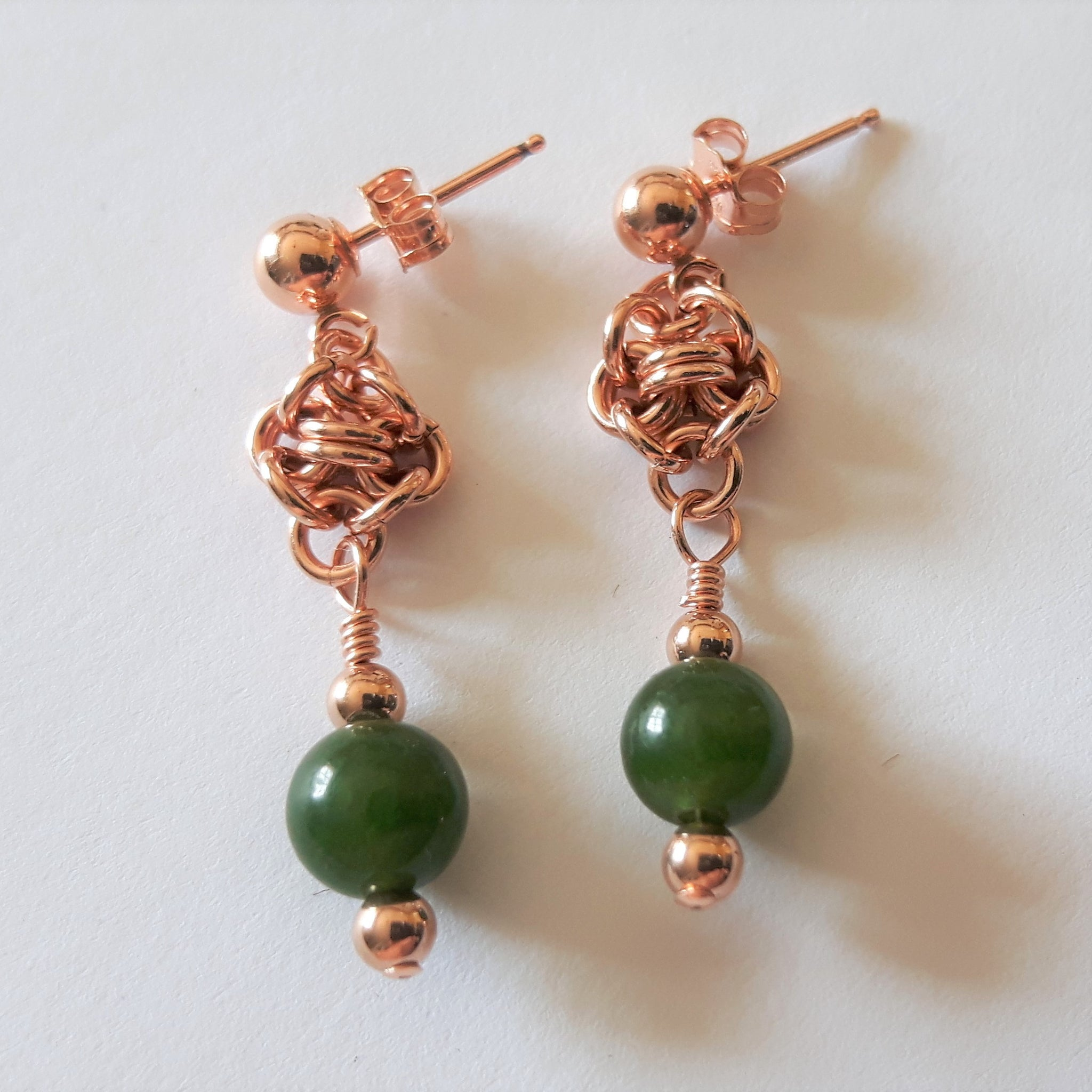 Evergreen Earrings (Post and Nugget Style)