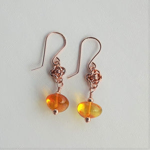 Amber Glow Earrings