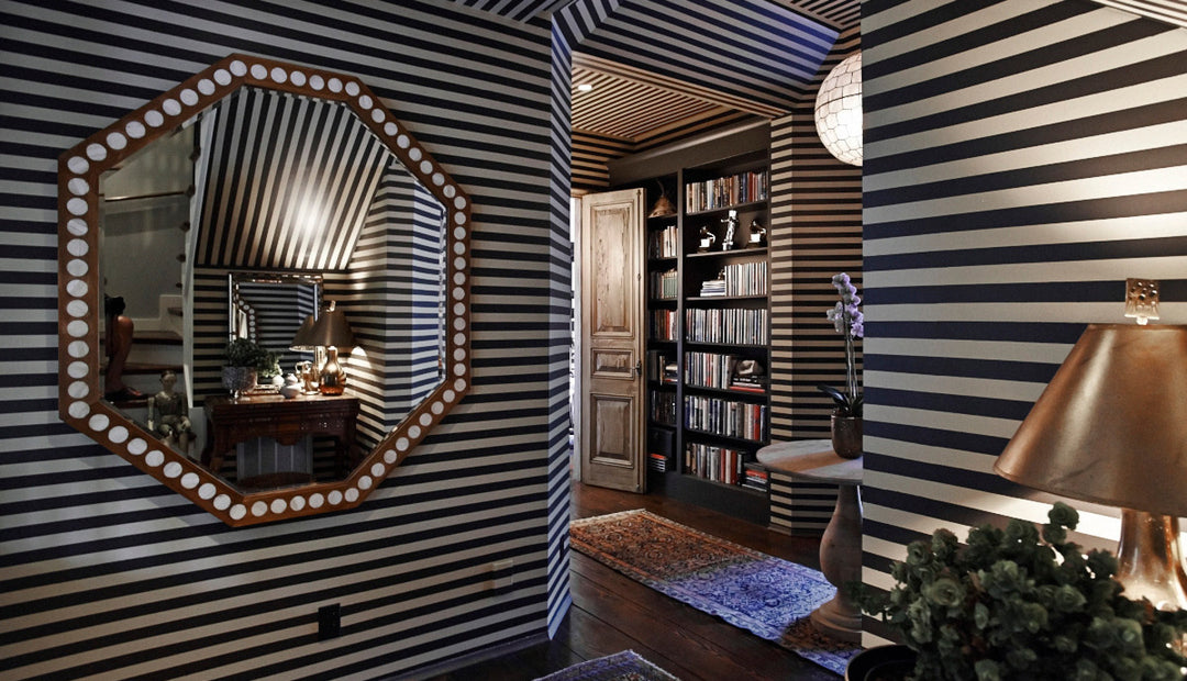 Black and white Zebra walls designed by Pierce and Ward