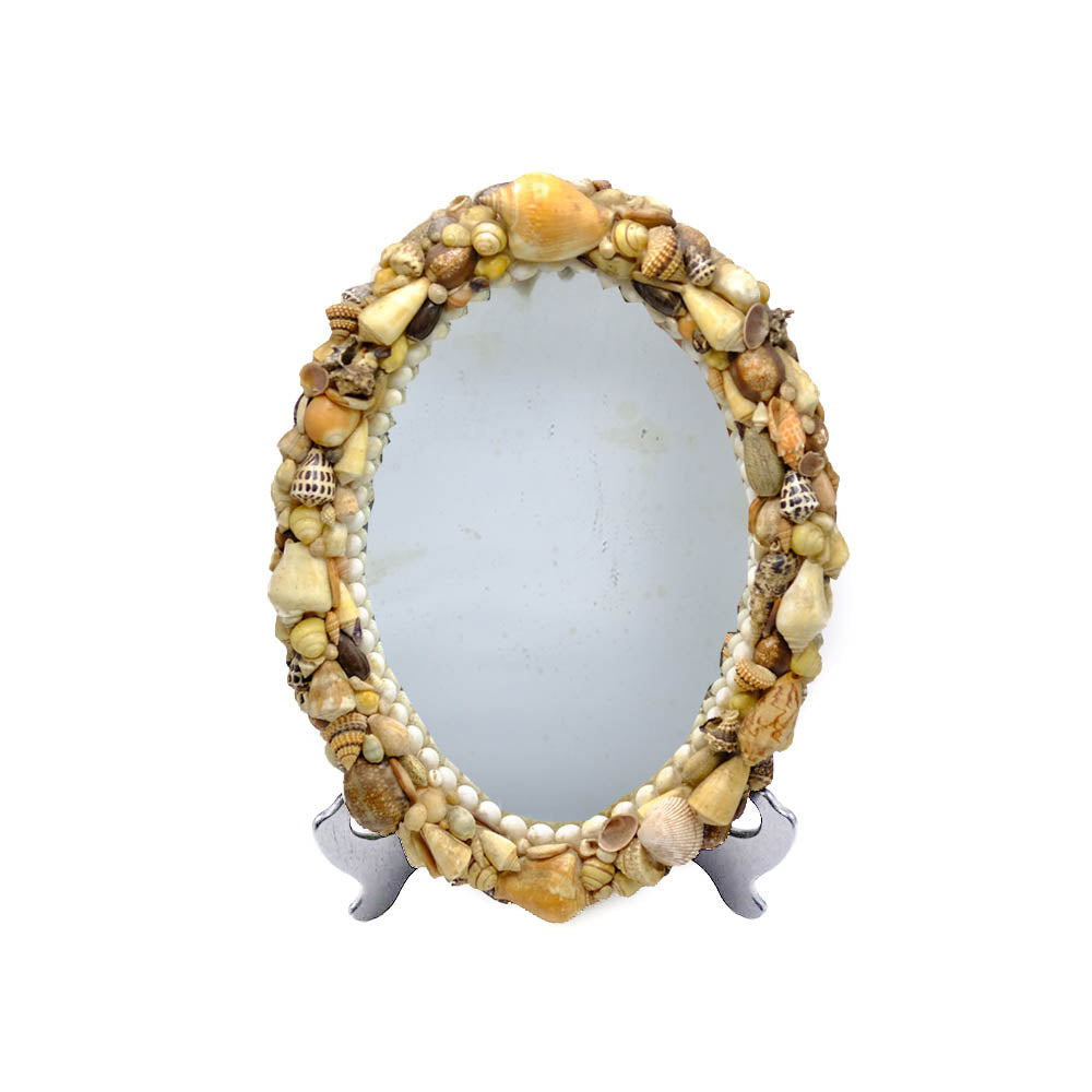 Antique Mirror with Seashell Frame