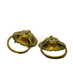 Antique Brass Asian Style Towel Rings