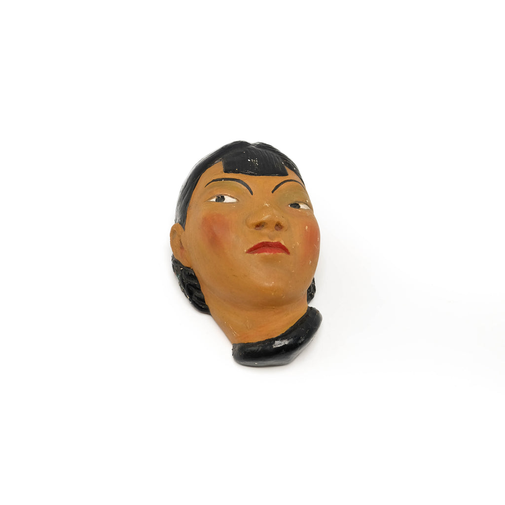Ceramic Asian Female Head