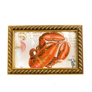 Framed Lobster Art