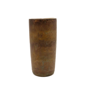 Glazed Ceramic Brown Patina Vase