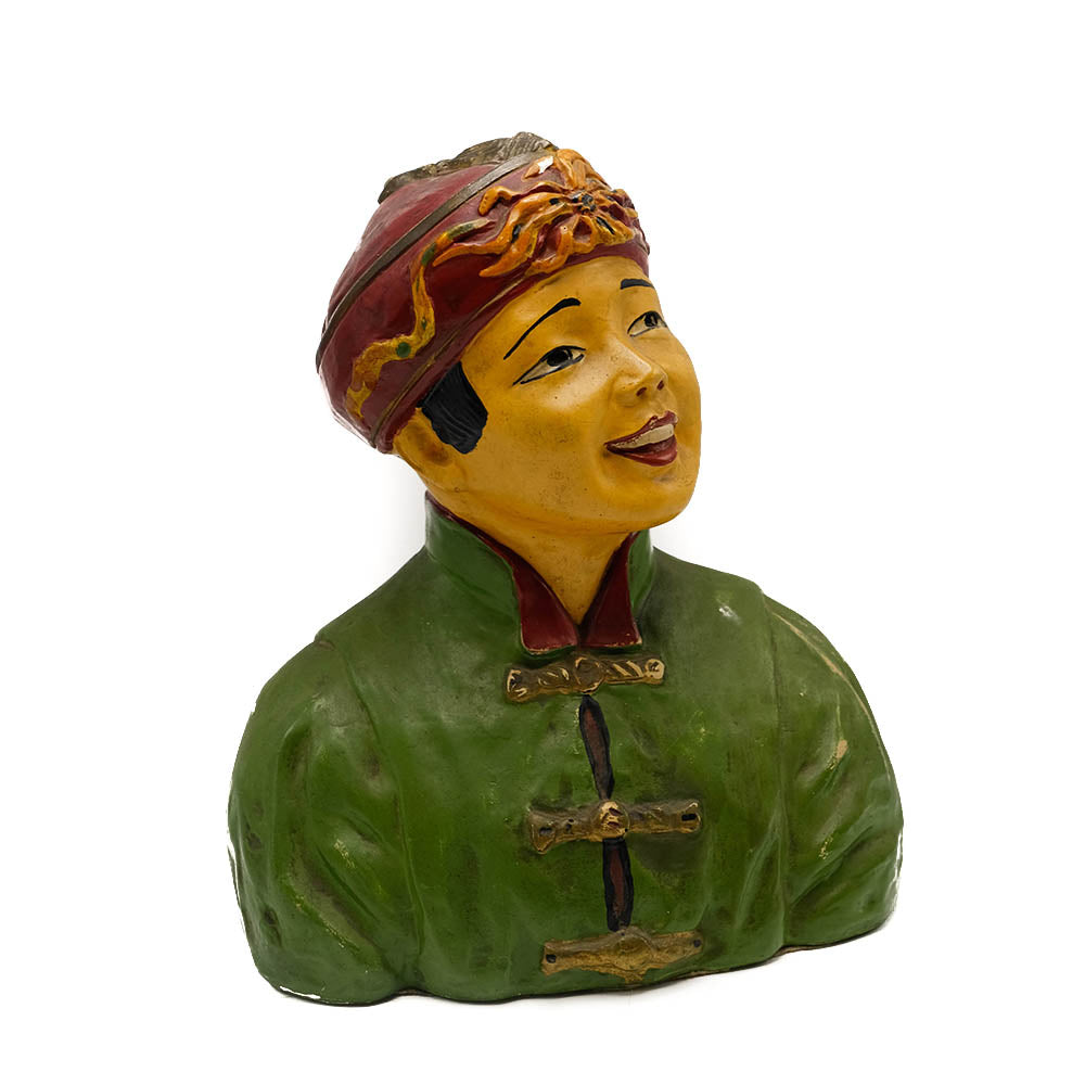 Ceramic Asian Boy Bust