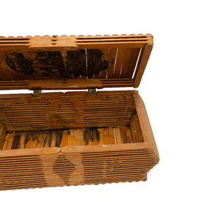 Folk Tramp Art Popsicle Stick Keepsake Box