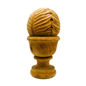 Antique Carved Wood Newel Post