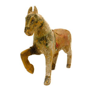 Wood Horse Sculpture