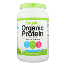 Orgain Organic Protein Powder - Plant Based - Sweet Vanilla Bean - 2.03 Lb - Reese Nutrition