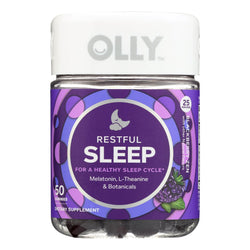 Olly - Supp Restful Sleep Blkbry - 1 Each - 50 Ct - Reese Nutrition