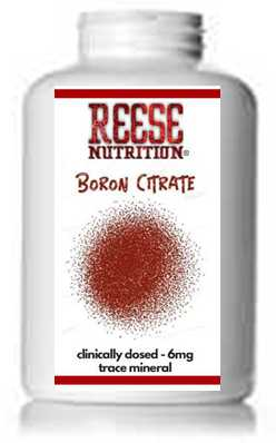 Boron Citrate - Clinically Dosed 6 mg - Testosterone Booster - Reese Nutrition
