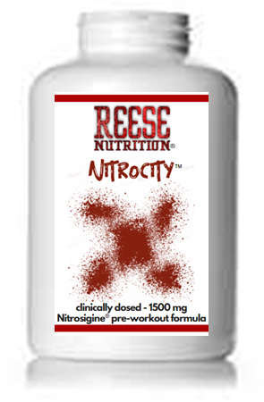 Nitrocity™ Nitric Oxide Booster - Clinically Dosed 1500 mg - Reese Nutrition