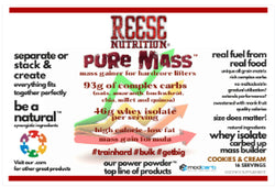 Pure Mass - Power Powder™ - Protein Gainer 5lb - Reese Nutrition