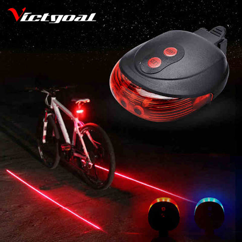 Bicycle Safety Taillight with Laser Lane Projection