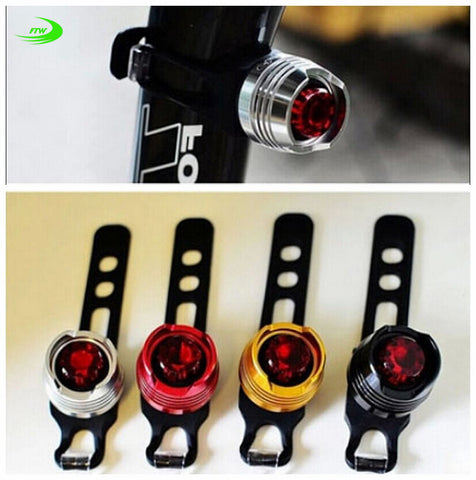Flashing LED Bicycle Safety Light - Multiple Colors - Easily Attaches to Bike or Helmet