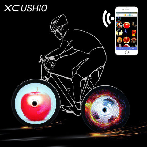 Bike Wheel LED (144 RGB LED's) Allows Custom Images in your Bike Spokes - iPhone or Android Wireless Image Upload / Access - Waterproof