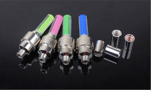 Bicycle Tire Valve Cover LED Lights - For High Visibility