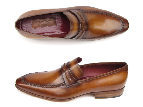Paul Parkman Men's Loafer Brown Leather Shoes (ID#068-CML) - Derby Clothes