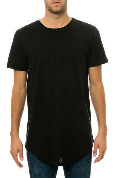 CB Tall Scallop Bottom Tee (Black) - Derby Clothes
