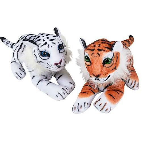 "6"" Plush Tiger with Molded Head"