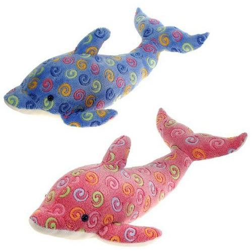 "23"" 2 Assorted Color Swirl Dolphins"